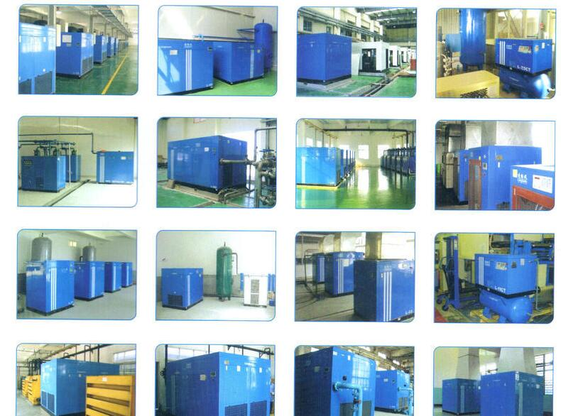 Linghein compressor usage in factory